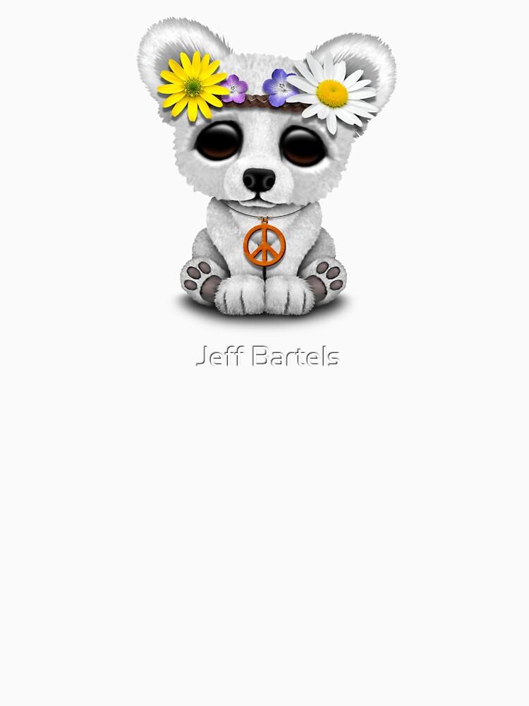 Cute Baby Eisbär Cub Hippie von JeffBartels