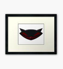 Sly Cooper Black/Red Framed Print