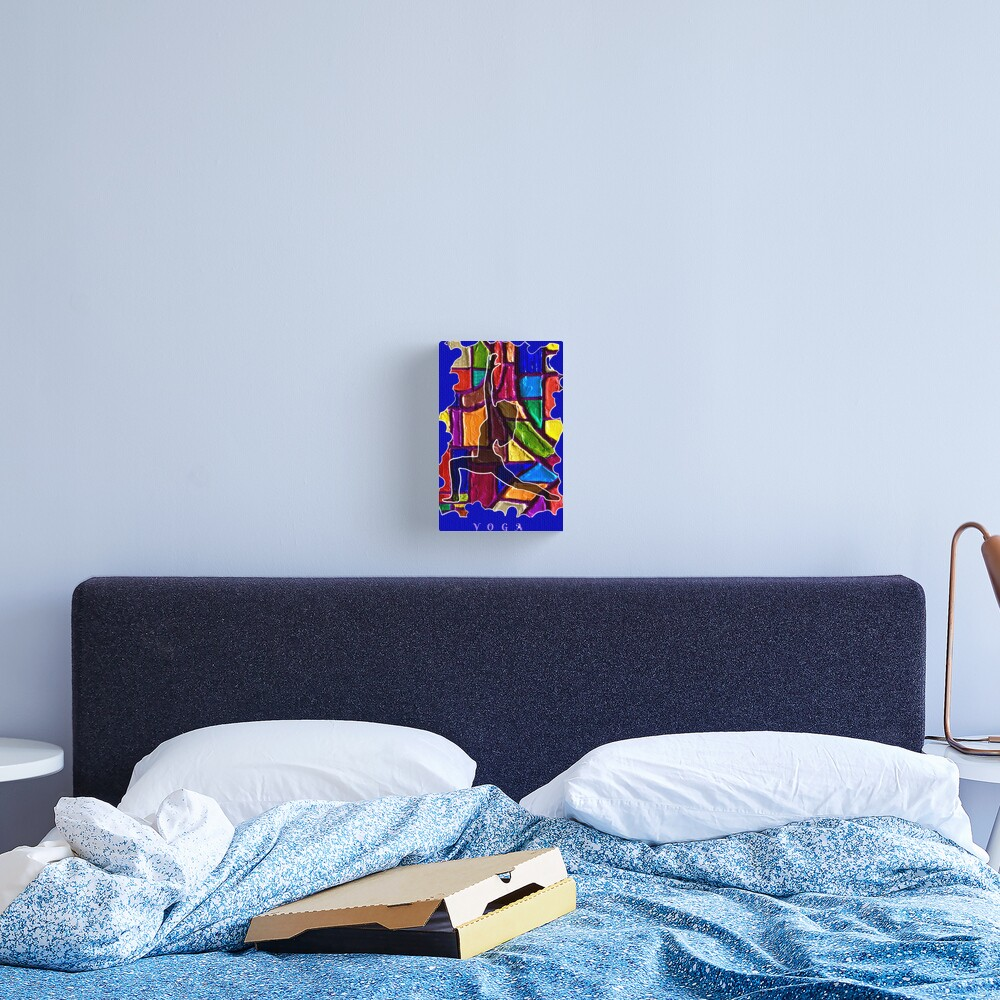 FEMALE YOGA CALM STRETCHING POSE Canvas Print