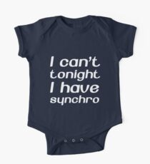 I Can't Tonight I Have Synchro Kids Clothes
