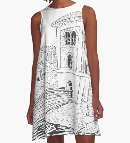 The Fishery Watchtower Maze (Galway, Ireland) A-Line Dress