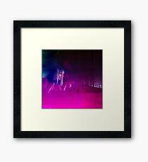 K - Hologram Framed Print