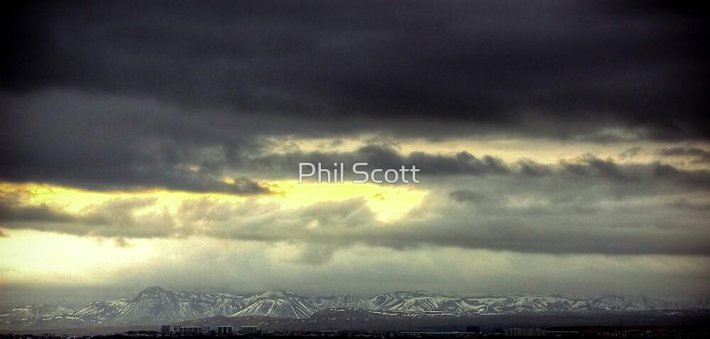 Big skies over Reykjavik by Phil Scott