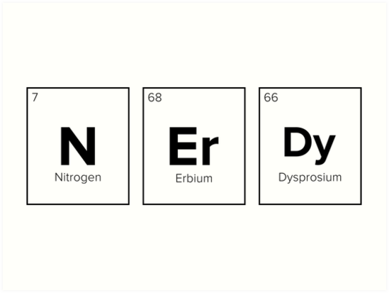 Chemical Symbol Nerdy Art Prints By Barber Design Redbubble