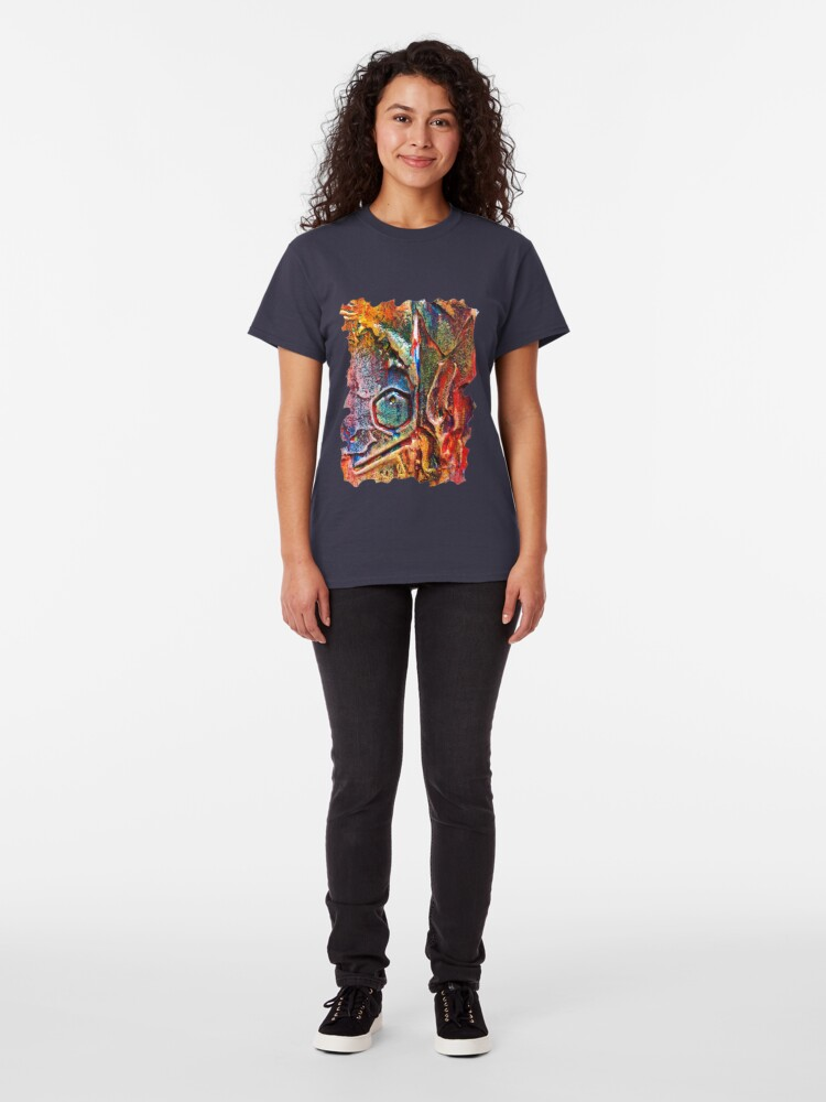 Alternate view of COLOURFUL TEXTURED GEOMETRIC STEAMPUNK ABSTRACT Classic T-Shirt