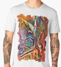 COLOURFUL TEXTURED GEOMETRIC STEAMPUNK ABSTRACT Men's Premium T-Shirt