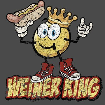 Weiner King T- shirt by toddalan
