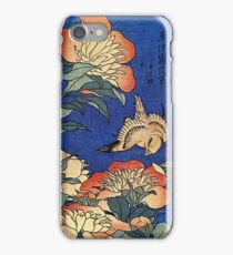 'Flowers' by Katsushika Hokusai (Reproduction) iPhone Case/Skin