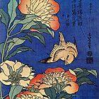 'Flowers' von Katsushika Hokusai (Reproduktion) von RozAbellera