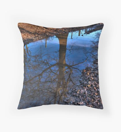 Tree Puddle Throw Pillow