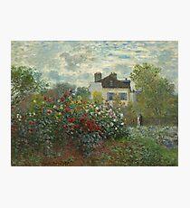 Claude Monet  A Corner of the Garden with Dahlias Photographic Print