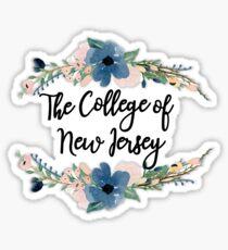 TCNJ Floral Sticker
