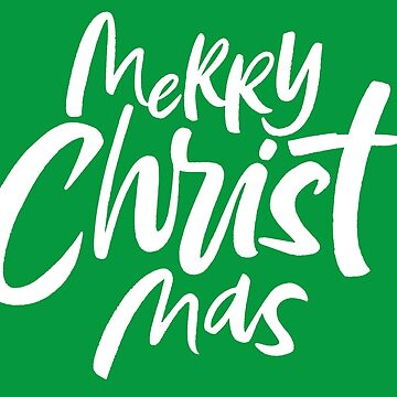 Merry CHRIST Mas - Christian Christmas Lettering - Religious by 26-Characters