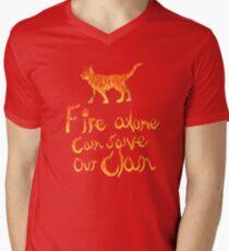 Fire Alone... Men's V-Neck T-Shirt