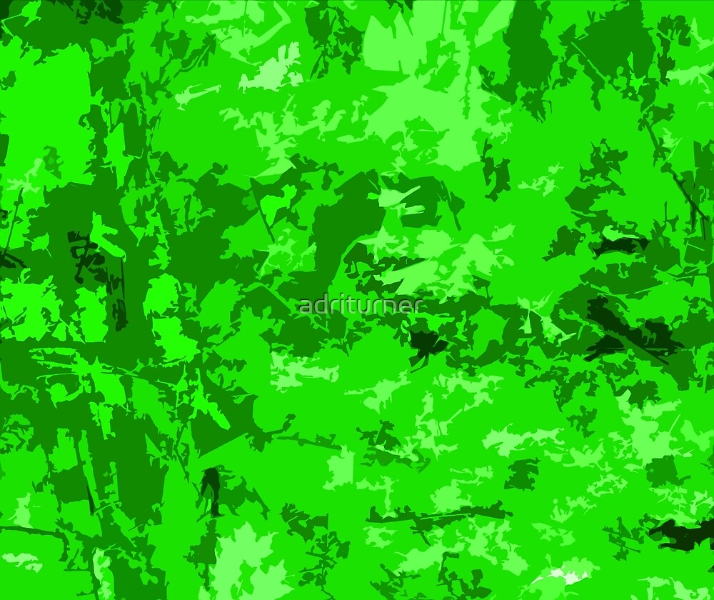 Neon green camo zombie camouflage abstract design quot by adri turner