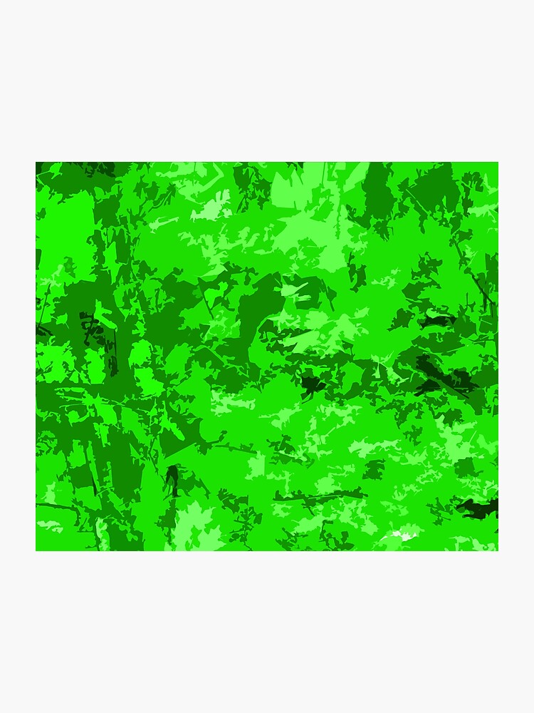 Neon Green Camo Zombie Camouflage Abstract Design Photographic Print