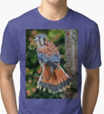 American Kestrel In My Garden Tri-blend T-Shirt