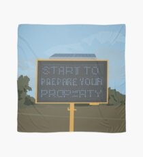 0113 Prepare your property blue LED warning sign Scarf