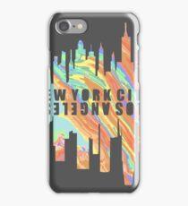 NY/LA Pastel Oil Slick iPhone Case/Skin