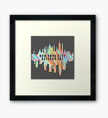 NY/LA Pastel Oil Slick Framed Print