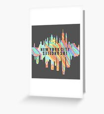 NY/LA Pastel Oil Slick Greeting Card