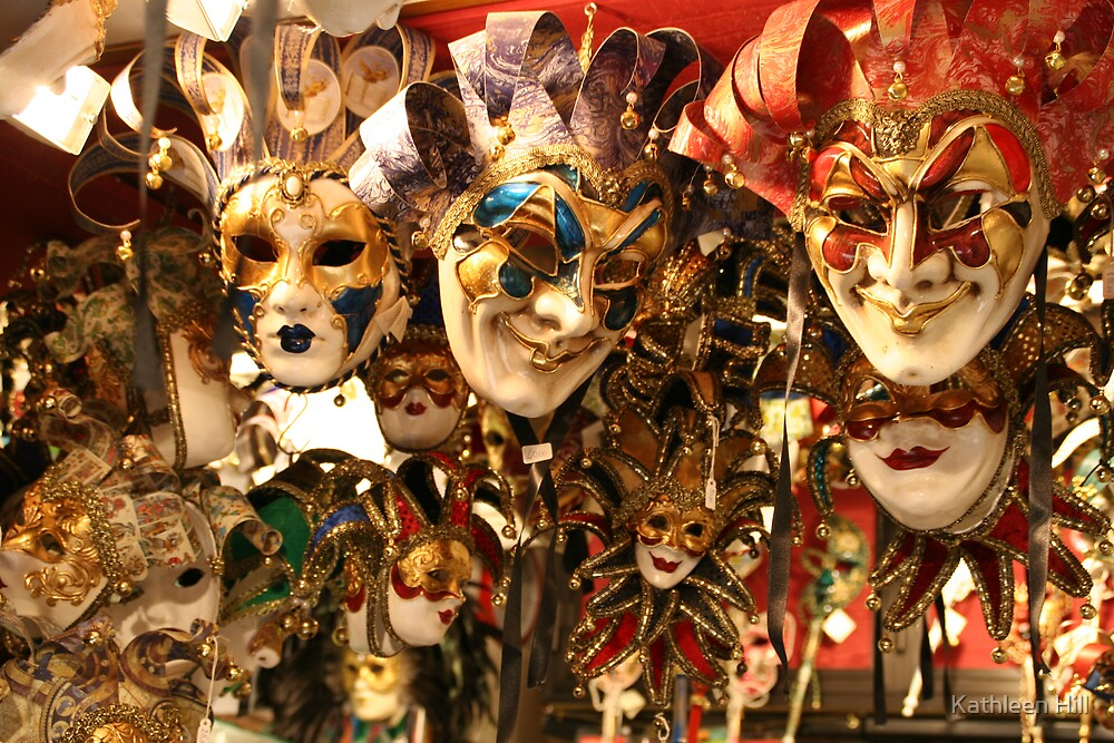 Masks in Venice by Kathleen Hill