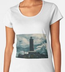 Cape Moreton Lighthouse on the North part of Moreton Island. Abstract lighting. Women's Premium T-Shirt