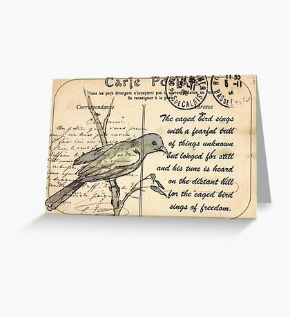 Why the caged bird sings Greeting Card