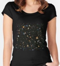 Hubble Extreme Deep Field Landscape Fitted Scoop T-Shirt