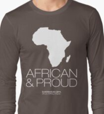 African & proud (white) Long Sleeve T-Shirt
