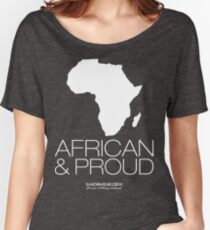 African & proud (white) Women's Relaxed Fit T-Shirt