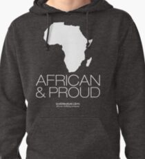 African & proud (white) Pullover Hoodie