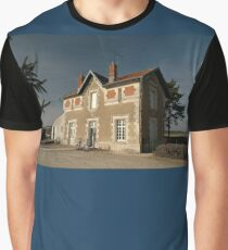 Cellettes Railway Station, France, Europe 2012 Graphic T-Shirt
