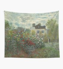 Claude Monet  A Corner of the Garden with Dahlias Wall Tapestry