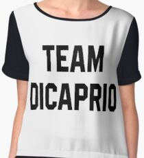 Team Dicaprio - Black Text Chiffon Top