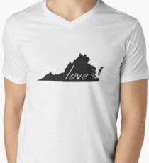 Love Virginia Men's V-Neck T-Shirt