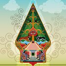 wayang gunungan or tree of life by Jatmika Jati
