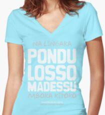 Pondu Losso Madessu Women's Fitted V-Neck T-Shirt