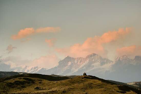 Stupa in the Himalayas by Brent Olson