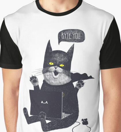 Geek Cat Graphic T-Shirt