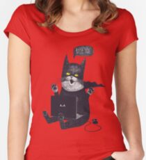 Geek Cat Women's Fitted Scoop T-Shirt