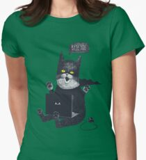 Geek Cat Womens Fitted T-Shirt