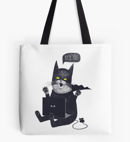 Geek Cat Tote Bag