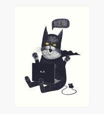 Geek Cat Art Print