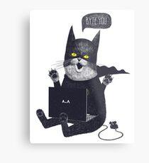Geek Cat Metal Print