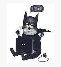 Geek Cat Photographic Print