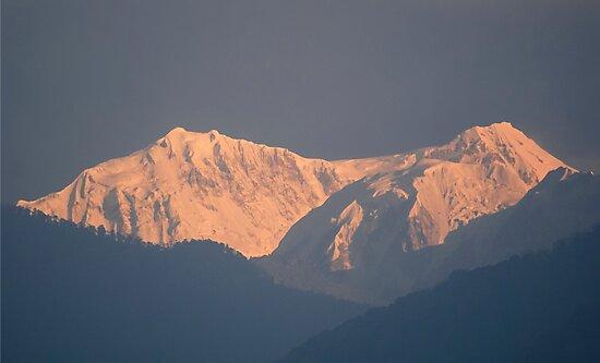 Kanchenjunga from Yoksum by Brent Olson