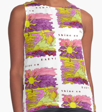 SUNSET OCEAN SEASCAPE - SHINE ON BABY! Contrast Tank