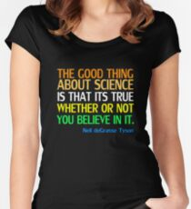 Neil deGrasse Tyson Popular Quote About Science Women's Fitted Scoop T-Shirt