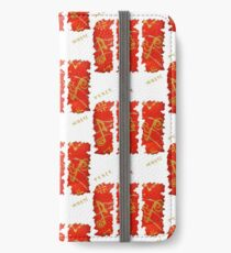 RED GOLD SONG MUSICAL NOTES PEACE LOVE MUSIC iPhone Wallet/Case/Skin